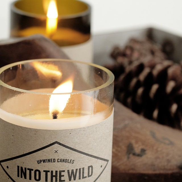 Upwind Candles - New candles from old wine bottles